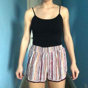 flowy striped shorts